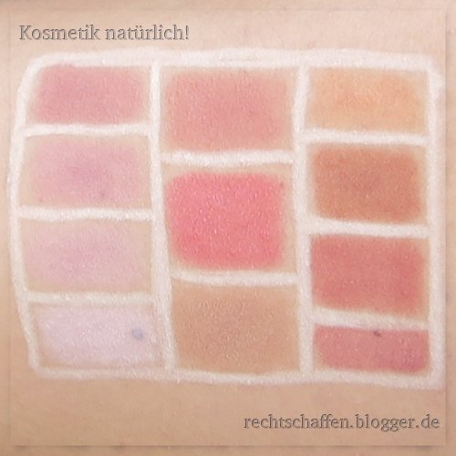 Mineral Rouge Swatches | Chrimaluxe, Andrea Biedermann, Alima Pure, Hiro