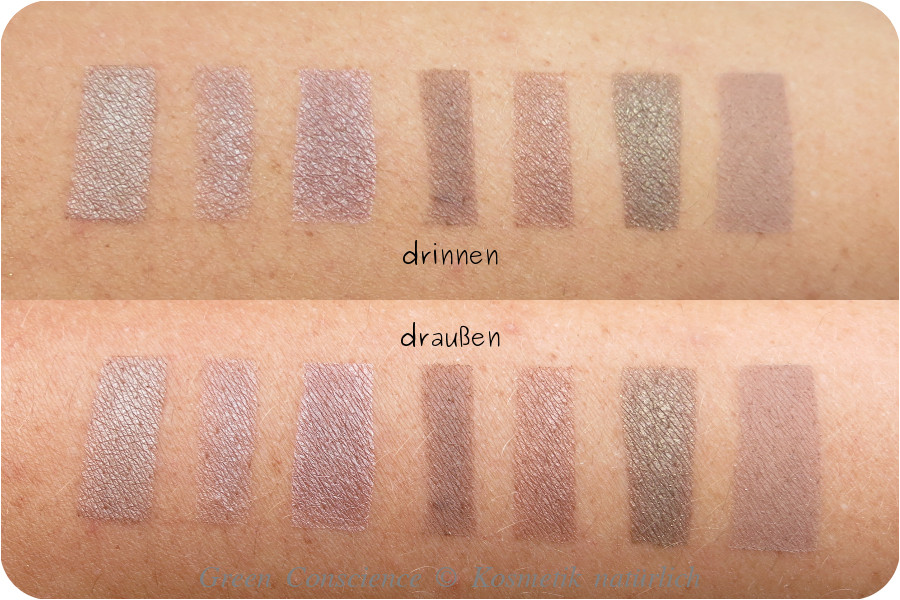 7 shades of brown | swatches