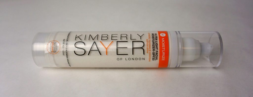 Kimberly Sayer Ultra Light Facial Moisturizer, Verpackung quer