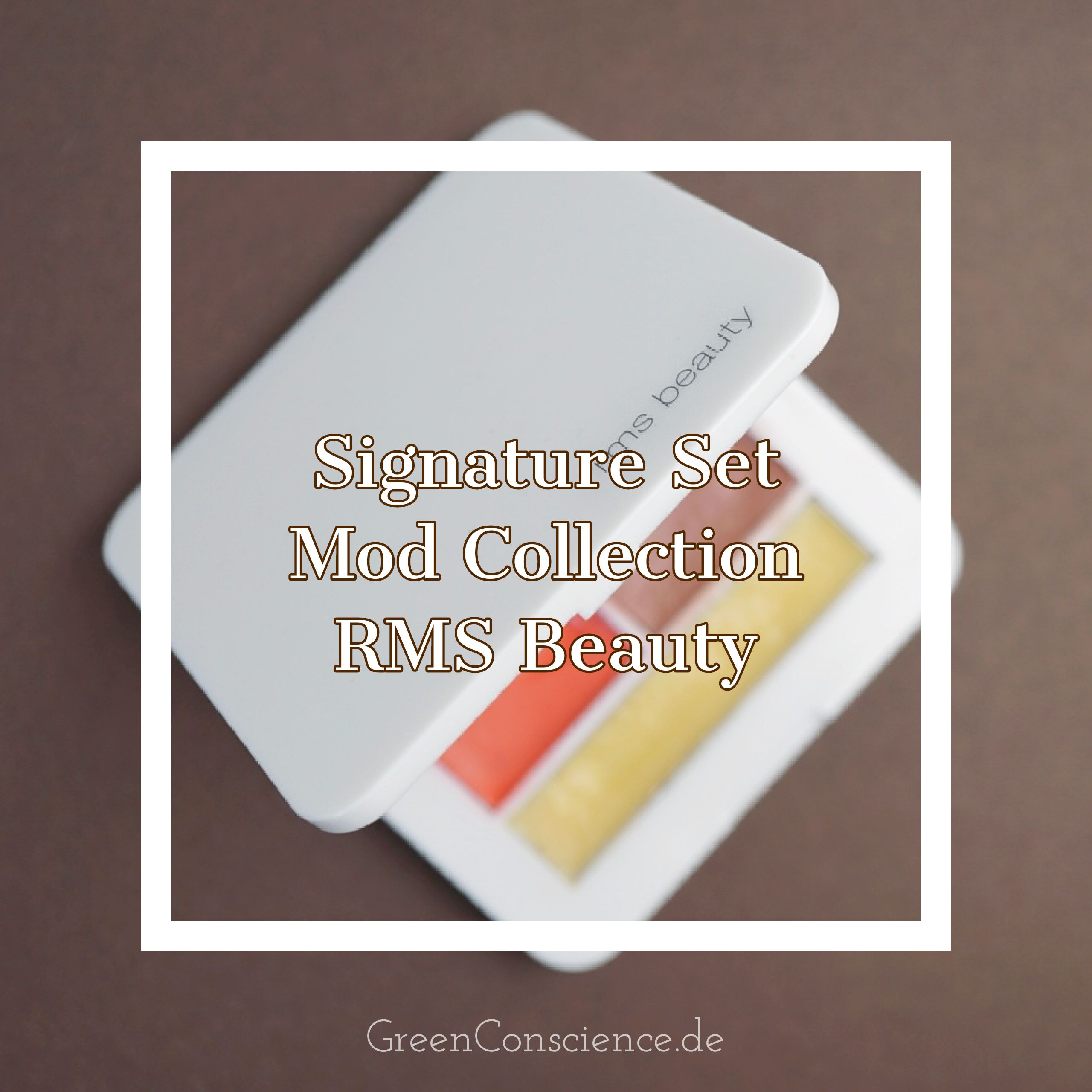 "RMS Beauty Mod Palette Review: mehr Infos auf meinem Blog GreenConscience.de Die RMS Beauty Signature Make-Up Palette ""Mod Collection"" enthält ""Master Mixer"", ""Living Luminizer"", ""Smile lip2cheek"", ""Spell lip2cheek"" und ""Simply cocoa lip & skin balm"". #makeup #rmsbeauty #naturkosmetik #greenconscience"