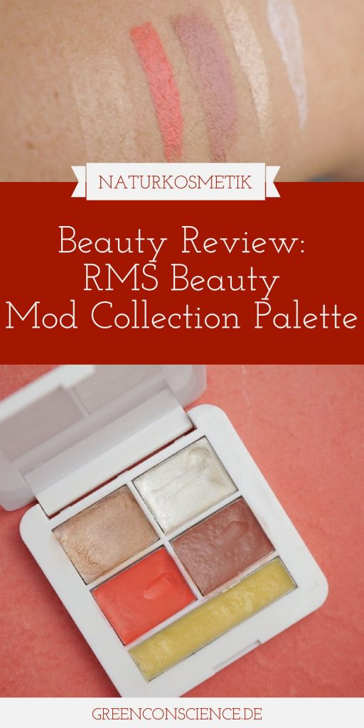 "RMS Beauty Mod Collection Palette: Review auf GreenConscience.de Die RMS Beauty Signature Make-Up Palette ""Mod Collection"" enthält ""Master Mixer"", ""Living Luminizer"", ""Smile lip2cheek"", ""Spell lip2cheek"" und ""Simply cocoa lip & skin balm"". #makeup #rmsbeauty #naturkosmetik #greenconscience"